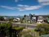 Widok z okna naszego pokoju - dom Chris i Warwicka w Omokoroa; Nowa Zelandia