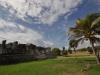 W ruinach miasta Majów w Tulum; Meksyk