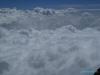 Widok ze szczytu wulkanu Tajamulco; Gwatemala
