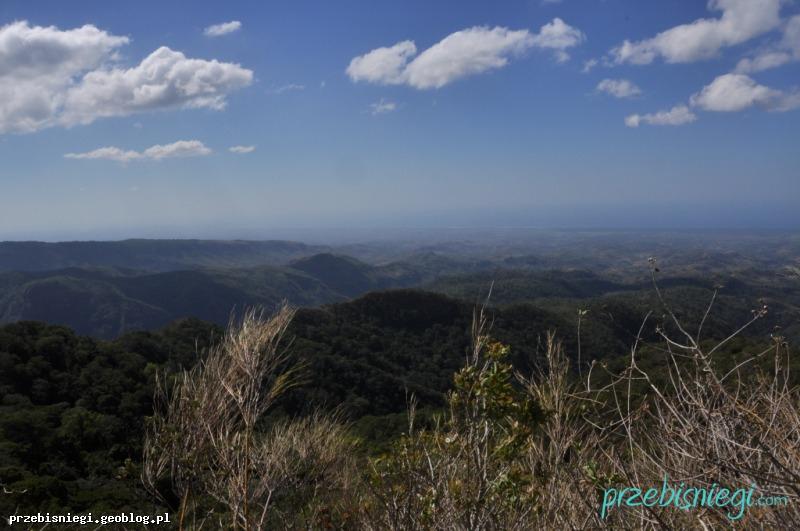 Widok z Cerro El Leon w Parku Narodowym El Imposible; Salwador