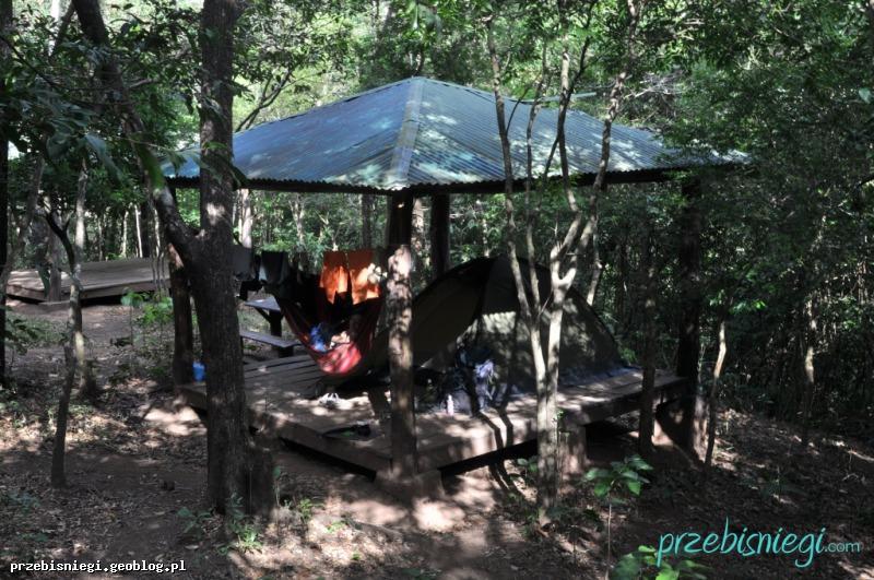 Na campingu w Parku Narodowym El Imposible; Salwador