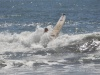 Łukasz na lekcji surfingu, El Sunzal; Salwador