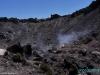 Wyziewy gorącego powietrza i dymu z krateru wulkanu Izalco; Salwador