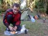 Na campingu w Parku Narodowym Los Volcanes; Salwador