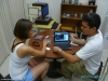 Oceniamy prace domowe studentów Jaimego, La Ceiba; Honduras