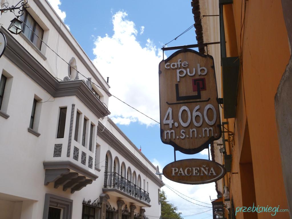 Pub na wysokości 4060m n.p.m. - w Potosí; Boliwia