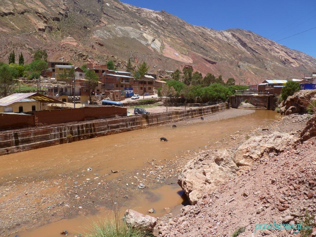 W drodze nad gorące źródła w Miraflores - okolice Potosí; Boliwia