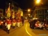 Uroczyste przemarsze orkiestry ulicami Potosí; Boliwia