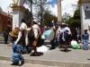 Indianie tańczący wokół kopca soli - w Potosí; Boliwia