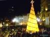 Choinka bożonarodzeniowa na placu San Francisco - La Paz; Boliwia