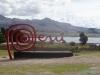 Peruwiańskie logo - w okolicach Yunguyo; Peru