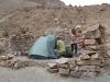 Obóz nad wodospadem Sipia - kanion Cotahuasi; Peru