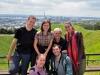 Na Mt. Eden - my, Hamish (nasz gospodarz z couchsurfing), Elsa, Agata i Quentin; Nowa Zelandia