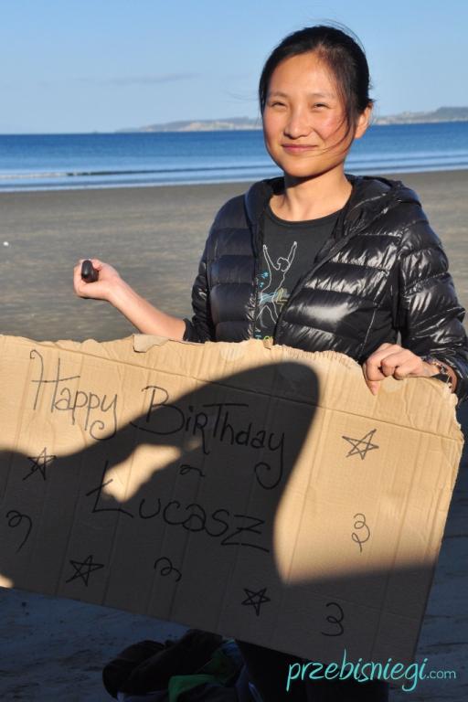 Urodziny Łukasza! :) - na plaży w Orewa; Nowa Zelandia