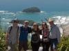 My, Warwick i dwójka Hiszpanów z couchsurfing - na szczycie Mt. Maunganui; Nowa Zelandia