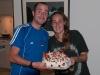 Dwójka Hiszpanów z couchsurfing oraz pavlover - w domu Chris i Warwicka w Omokoroa; Nowa Zelandia